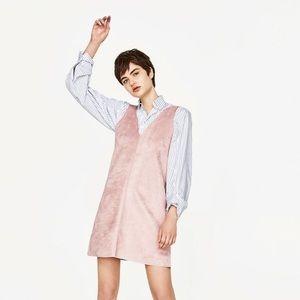 Zara|Dusty Rose low back midi dress